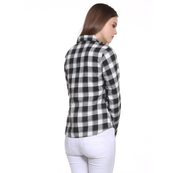 fed80baf7c1 Krátká károvaná košile s dlouhým rukávem