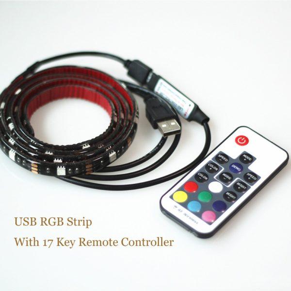 Barevný LED pásek na USB