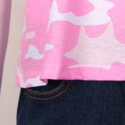 Dámské maskáčové růžové tričko