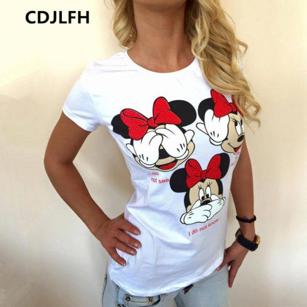 Dámské tričko s potiskem Minnie Mouse  dc137855f0