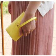 Menší dámská peněženka s úschovnou mobilu - žlutá