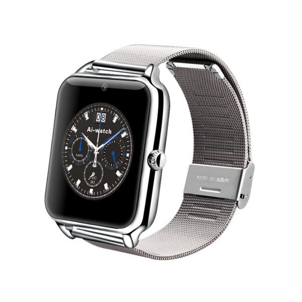 Chytré hodinky Smartwatch Z50 s Androidem a NFC - stříbrná 40e0546255