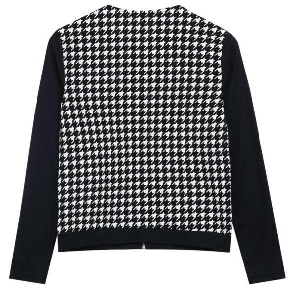 Dámská černobílá podzimní bunda