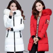 Dámská dlouhá bunda s kapucí