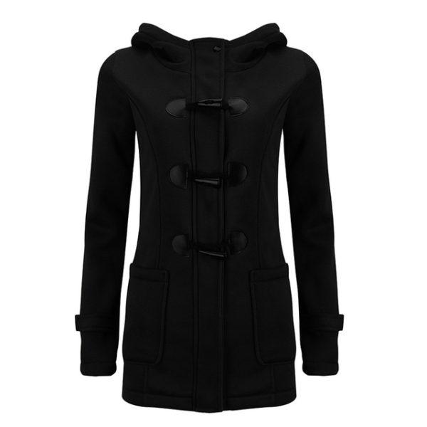 Dámská mikina ve stylu kabátu - černá 7a6b50d079