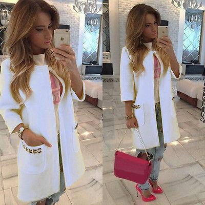 Luxusní dámský kabát - bílá