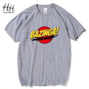 Pánské tričko Bazinga - šedá