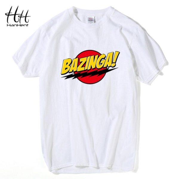 Pánské tričko Bazinga - bílá
