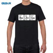 Pánské tričko Bazinga z periodických prvků - černá