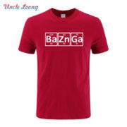 Pánské tričko Bazinga z periodických prvků - červená