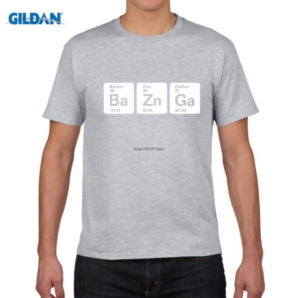 Pánské tričko Bazinga z periodických prvků - šedá
