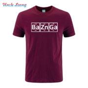 Pánské tričko Bazinga z periodických prvků - fialévá