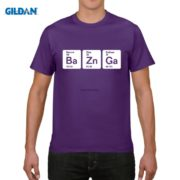 Pánské tričko Bazinga z periodických prvků - fialvá