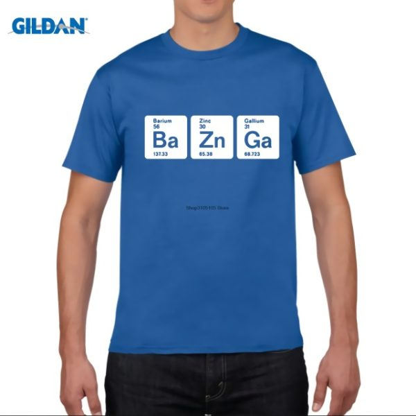 Pánské tričko Bazinga z periodických prvků - modrá