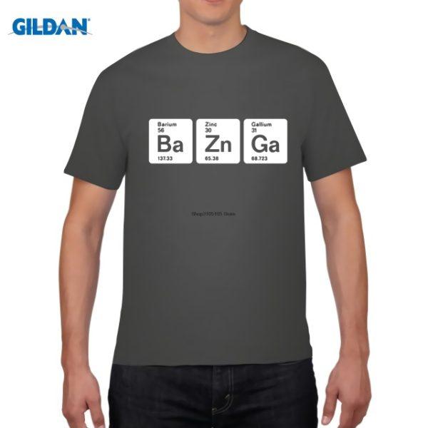 Pánské tričko Bazinga z periodických prvků - tmavě šedá