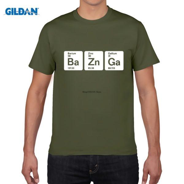Pánské tričko Bazinga z periodických prvků - tmavě zelená