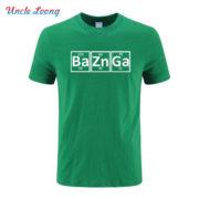 Pánské tričko Bazinga z periodických prvků - zelená