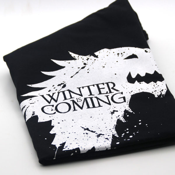 Pánské tričko Game of Thrones s nápisem Winter is Coming
