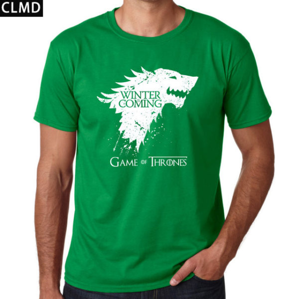 03ab0ce8a12 Pánské tričko Game of Thrones s nápisem Winter is Coming - zelenáPánské tričko  Game of Thrones