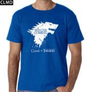 Pánské tričko Game of Thrones s nápisem Winter is Coming - modrá