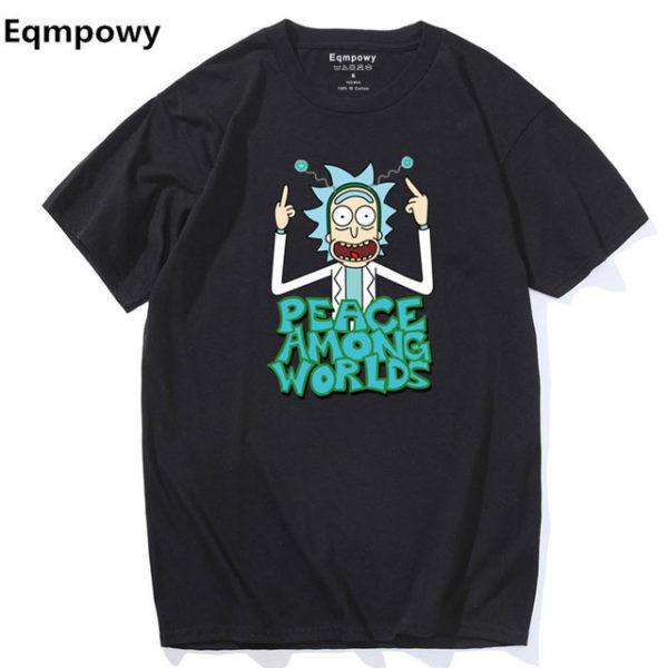 Pánské tričko Rick and Morty - černá