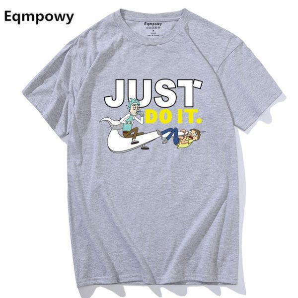 Pánské tričko Rick and Morty - Just Do It - šedá