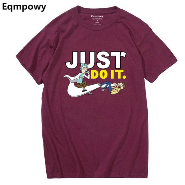 Pánské tričko Rick and Morty - Just Do It - fialová