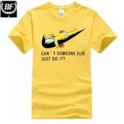 Pánské tričko - spící Homer - žlutá