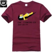 Pánské tričko - spící Homer- fialová