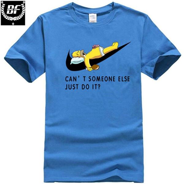 Pánské tričko - spící Homer - modrá