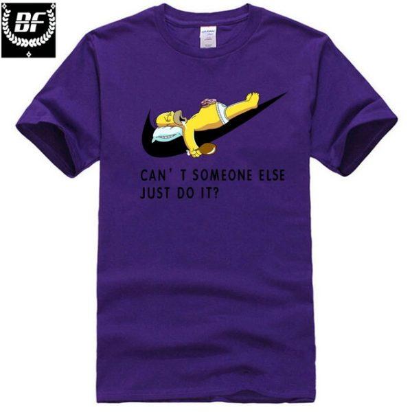 Pánské tričko - spící Homer - tmavě morá