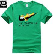 Pánské tričko - spící Homer - zelená