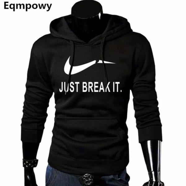 Pánska mikina - Just Break It - černá