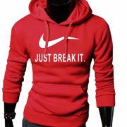Pánska mikina - Just Break It - červená