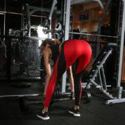 Fitness legíny s tvarem srdce - červená