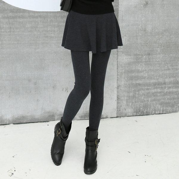 Legíny se sukní - šedá