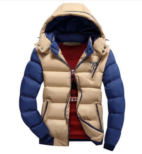 ... Pánská zimní bunda - béžová ... 947b872eab2