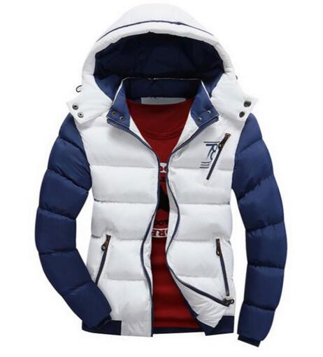 Pánská zimní bunda - bílá ... d78eba92476