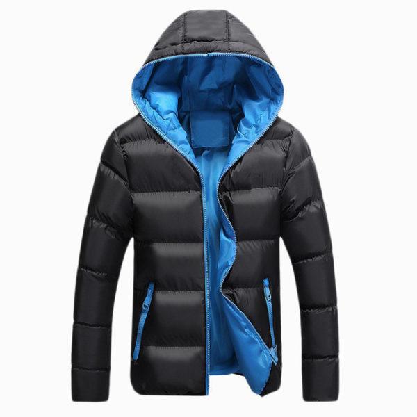 Pánská zimní bunda s kapucí - černá ... 8a81cd30e8d