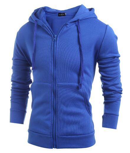 Pánská mikina s kapucí na zip - modrá