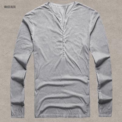 Pánské tričko se zapínáním na knoflíky - světle šedá