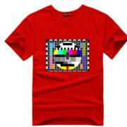 Sheldnovo tričko - TV signál - červená