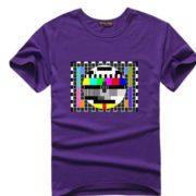 Sheldnovo tričko - TV signál - fialová