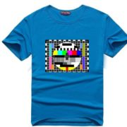 Sheldnovo tričko - TV signál - modrá