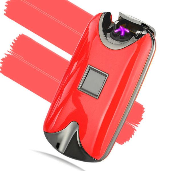 USB zapalovač na otisk prstů - červená