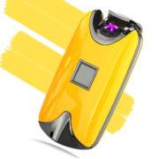 USB zapalovač na otisk prstů - žlutá