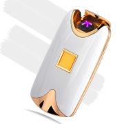 USB zapalovač na otisk prstů - bílá